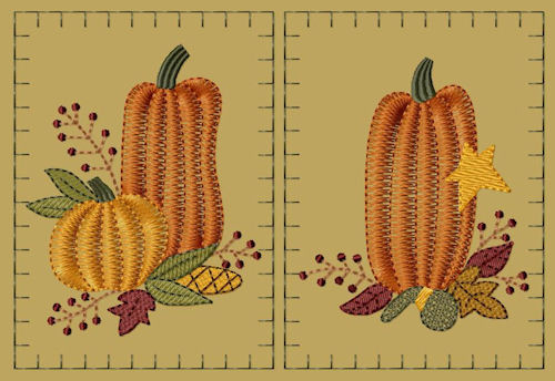 "PK001 ""Prim Pumpkin"" Hand Towel Collection - Version 1"