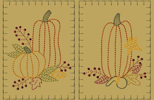 "PK002 ""Prim Pumpkin"" Hand Towel Collection - Version 2"