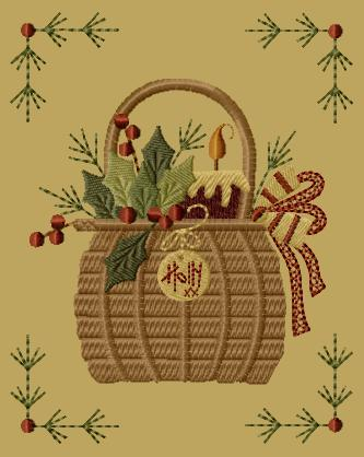 "PK065 ""Holly Basket"" Version 1 - 5x7"