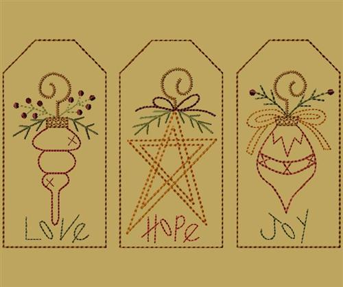 "PK092 ""Christmas Ornament Tag Collection\"""