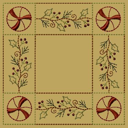"PK099 ""Peppermint Holly\"" Candle Mat"