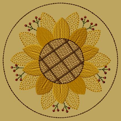 "PK112 ""Sunflower"" Candlemat - Version 1"