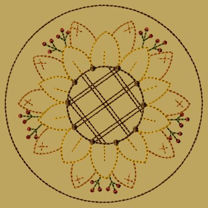 "PK113 ""Sunflower\"" Candlemat - Version 2"