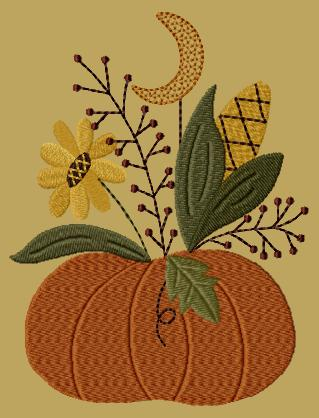 "PK124 ""Moonlite Pumpkin"" Version 1 - 5x7"