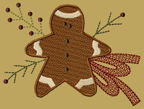 "PK128 ""Gingerbread Boy"" Version 1 - 5x7"