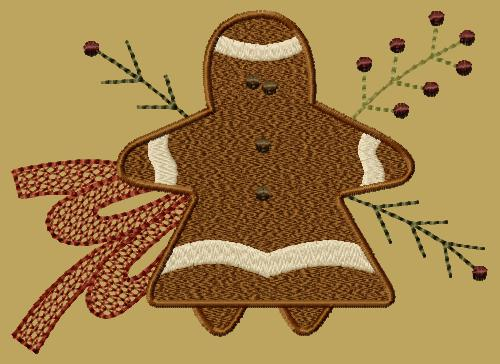 "PK129 ""Gingerbread Girl"" Version 1 - 5x7"