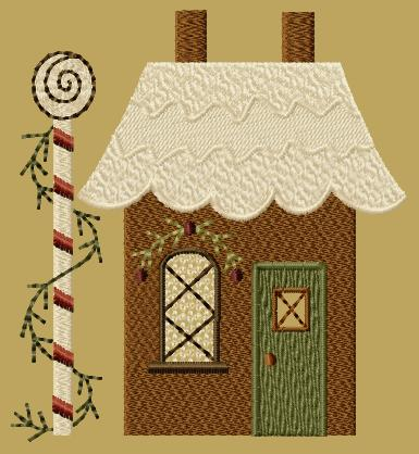 "PK131 ""Gingerbread House 2"" Version 1 - 5x7"