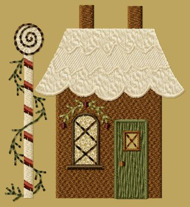 "PK136 ""Gingerbread House 2"" Version 1 - 4x4"
