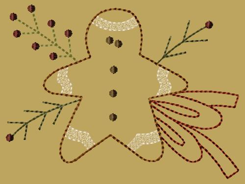 "PK138 ""Gingerbread Boy"" Version 2 - 5x7"