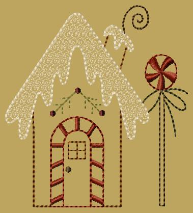 "PK140 ""Gingerbread House 1"" Version 2 - 5x7"