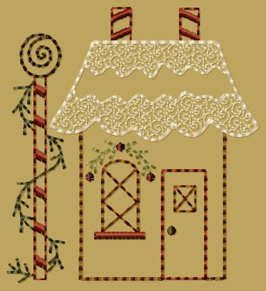"PK146 ""Gingerbread House 2"" Version 2 - 4x4"
