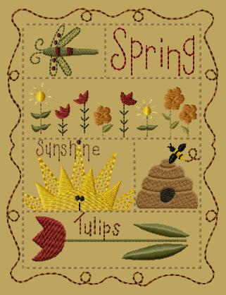 "PK148 ""Spring Sampler"" Version 1 - 5x7"