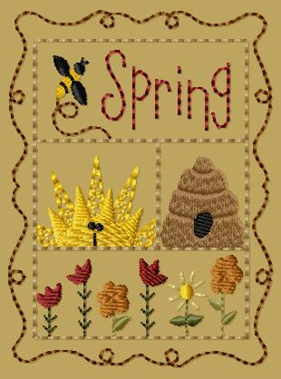 "PK149 ""Spring Sampler"" Version 1 - 4x4"