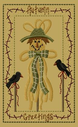 "PK180 ""Raffia Scarecrow"" Version 1 - 5x7"