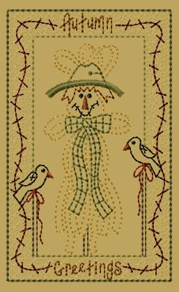 "PK182 ""Raffia Scarecrow"" Version 2 - 5x7"