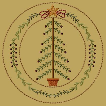 PK194 My Christmas Tree Candle Mat
